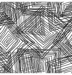 Abstract geometric seamless monochrome background vector