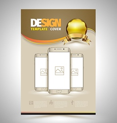 Abstract Poster Template with smartphones vector image