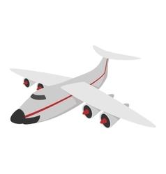 Airplane cartoon icon vector image
