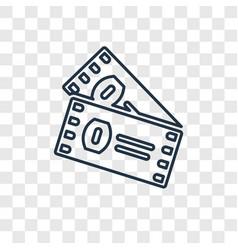 american football ticket concept linear icon vector image