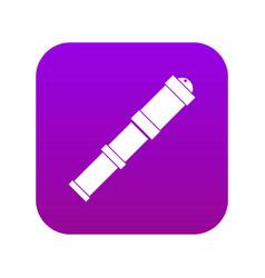 Antique telescope icon digital purple vector