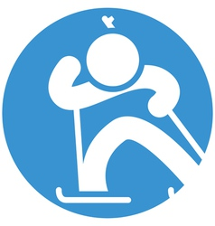 Biatlon icon vector image