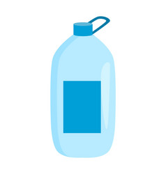 big bottle with water banner vector image