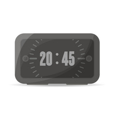 Black digital alarm clock icon vector