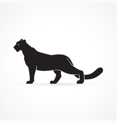 black panther sign logo vector image