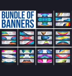 bundel of banner template vector image