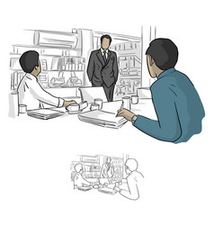business people working in conference room vector image