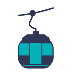 cable car transport vector image