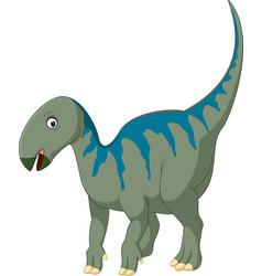 cartoon iguanodon vector image
