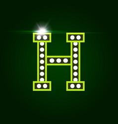 Casino and resort letter h luxury letter vector