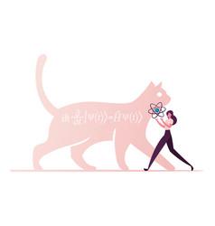 Cat schrodinger equation physics formula vector