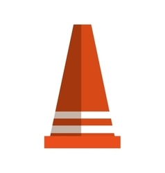 cone signal construction icon vector image