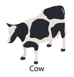 cow icon isometric style vector image