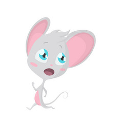 cute grey mouse run stock vector image