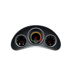 dashboard template speedometer tachometer fuel vector image