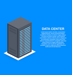 data center cloud connection hosting server vector image