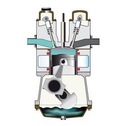 Diesel compression stroke vector