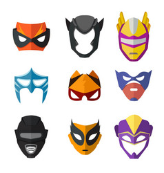 Different superheroes masks for kids vector
