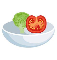 Dish food vegetable vector