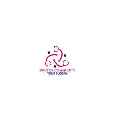 doctor community logo design vector image