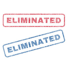 Eliminated textile stamps vector