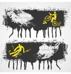 Extreme sports banner vector image