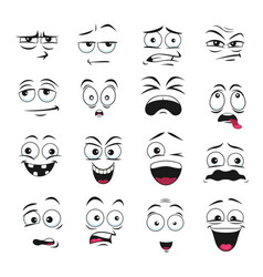 Face expression isolated emoticons icons vector