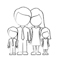 figure family with their children icon vector image