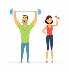 Fitness instructors - cartoon people characters vector