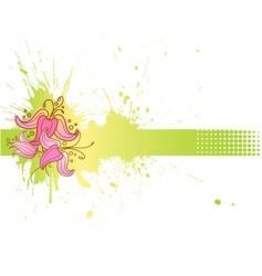 flower blank vector image
