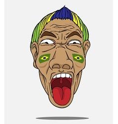 football fan from Brazil vector image