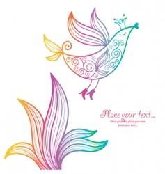 Funky bird vector
