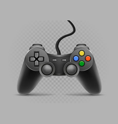 gamepad on gray transparent background vector image