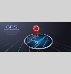 gps navigator vector image