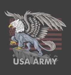 griffin eagle american army symbol vector image