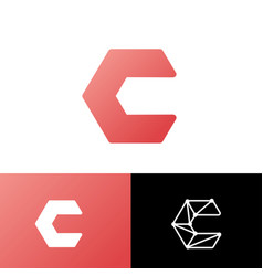 Initial c abstract logo template and inspiration vector