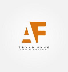 Initial letter af logo - minimal business logo vector