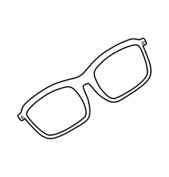 Isolated modern glasses vector image