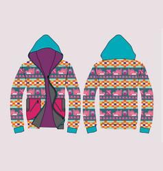 Jacket design template vector