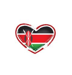 kenya flag on a white vector image