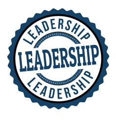 Leadership sign or stamp vector