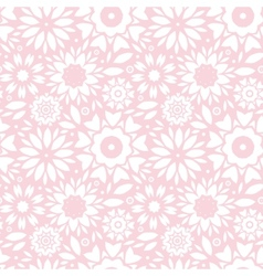 Light pink abstract flowers seamless pattern vector image