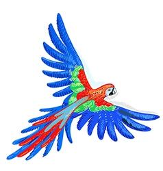 Macaw parrot vector