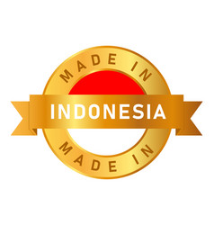 Made in indonesia label stamp for product vector