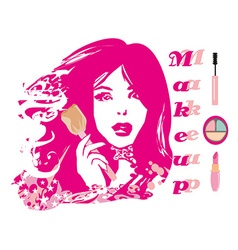 Make-up girl - abstract portrait vector