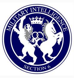 mi6 logo button vector image