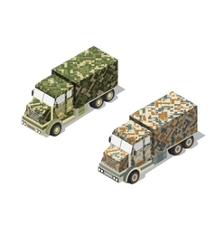 Military truck army vector