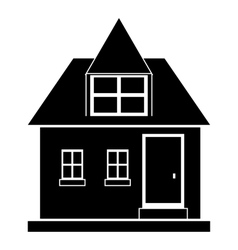 Modern house icon simple style vector