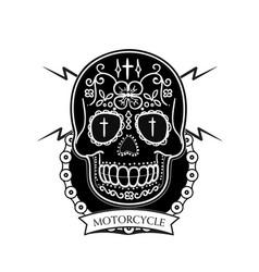 Motorcycle modern skull background image vector