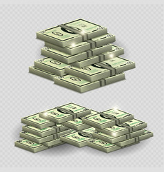 much money with shining elements - realistic money vector image